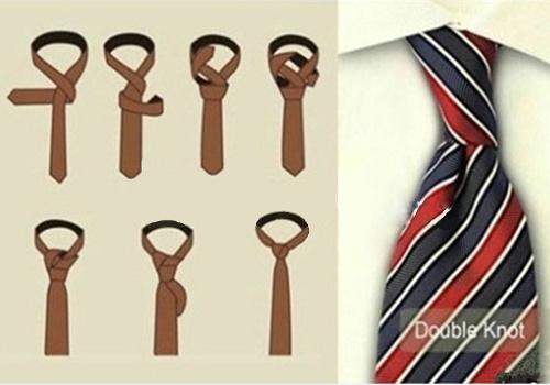 领带交叉结打法